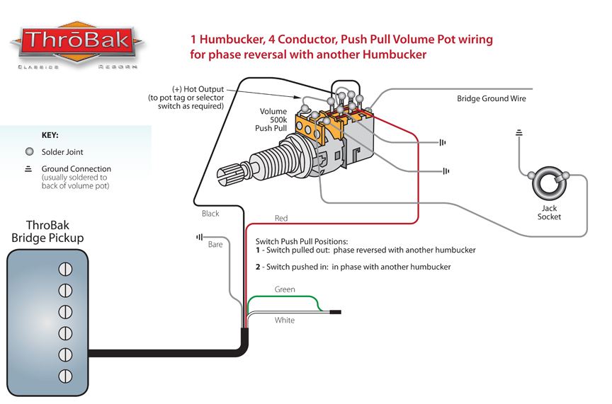 throbak push pull phase wiring guitar pickup dimensions throbak phase reversal wiring diagram