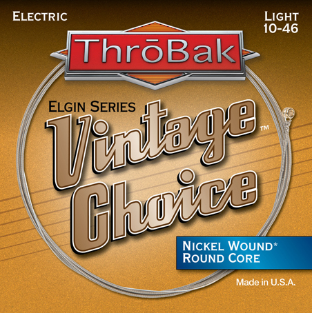 ThroBak Vintage Choice Nickel wound round core electric guitar strings photo.