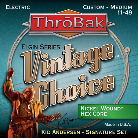 ThroBak Vintage Choice Nickel wound hex core electric guitar strings photo.