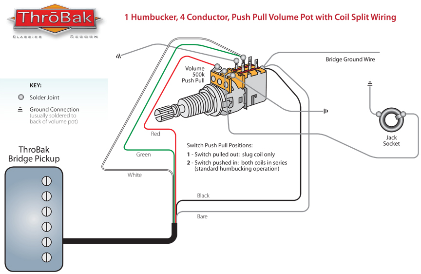 throbak humbucker coil split diagram rh throbak com A Single Humbucker Pickup Wiring Double Humbucker Wiring