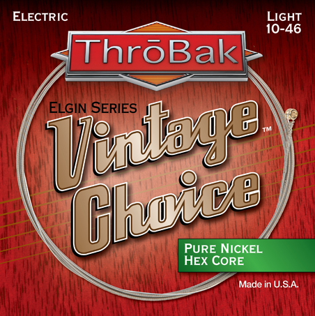 ThroBak Vintage Choice hex core pure Nickel electric guitar strings photo.