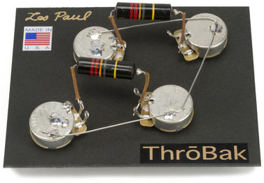 ThroBak Les Paul guitar wiring harness photo.