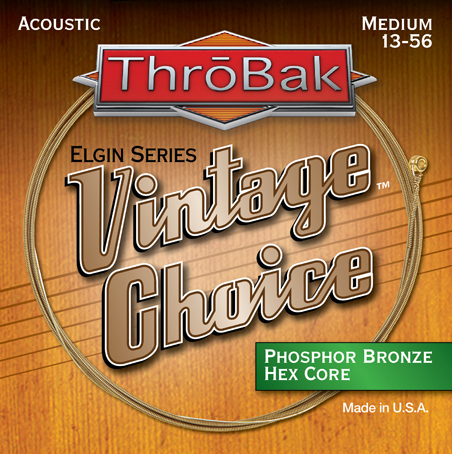 Vintage Choice hex core Phosphor Bronze acoustic guitar strings photo.