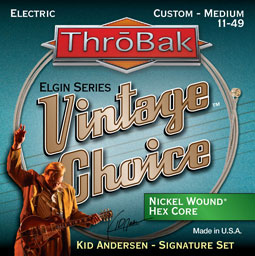 ThroBak Vintage Choice Kid Andersen signature electric guitar strings.