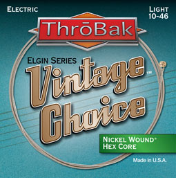ThroBak Vintae Choice electric guitar strings photo.