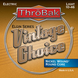 Throbak Vintage Choice electric guitar strings.