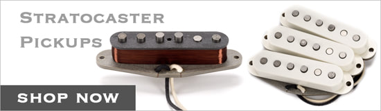Stratocaster Pickups Button Graphic